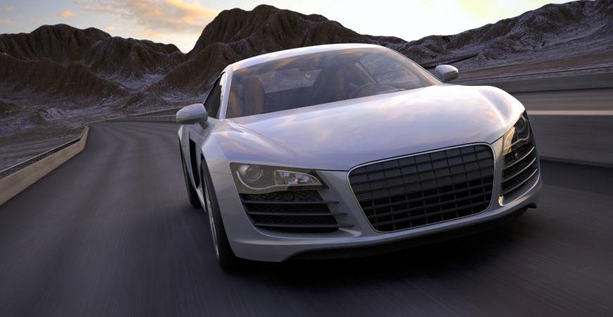 driving a fast sports car