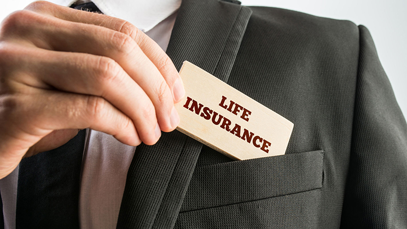 a life insurance agent in a suit