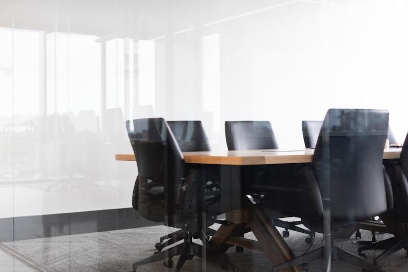 an office table